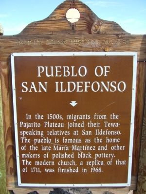 Pueblo of San Ildefonso Marker image. Click for full size.