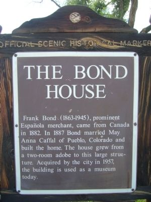 The Bond House Marker image. Click for full size.