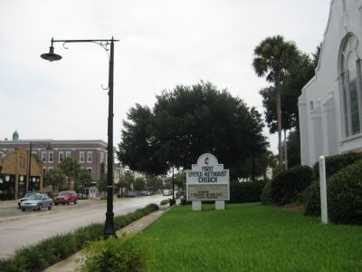 First United Methodist Church Sign image. Click for full size.