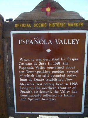 Española Valley Marker image. Click for full size.