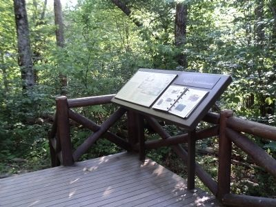 Marker at Rapidan Camp image. Click for full size.