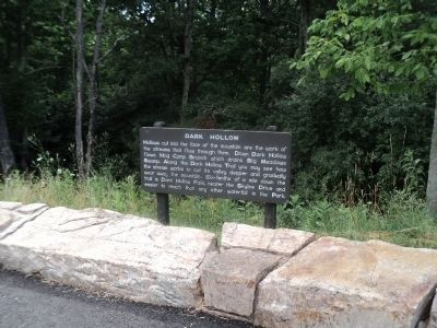 Marker on Skyline Drive image. Click for full size.