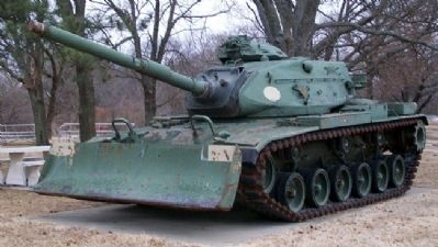Chase County All Veterans Memorial Tank image. Click for full size.