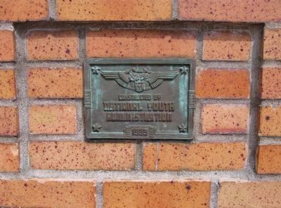 Plaque Beneath Marker image. Click for full size.