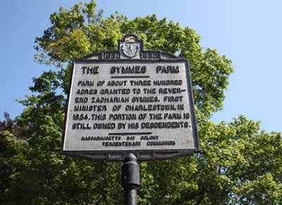 Symmes Farm Marker image. Click for full size.