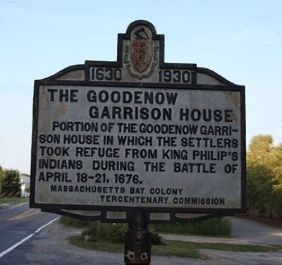 The Goodnow Garrison House Marker image. Click for full size.