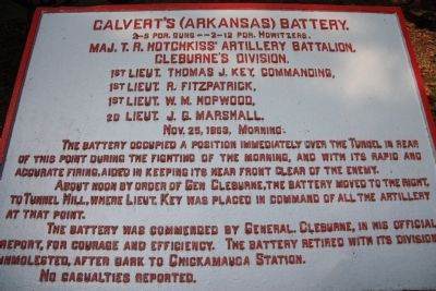 Calvert's (Arkansas) Battery Marker image. Click for full size.