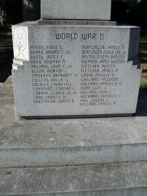 World War II Names image. Click for full size.