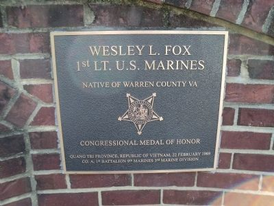 Wesley L. Fox CMOH Marker image. Click for full size.