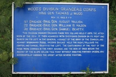 Wood's Division - Granger's Corps Marker image. Click for full size.