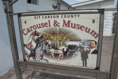 Kit Carson County Carousel and Museum Sign image. Click for full size.