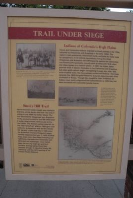 Trail Under Siege Marker image. Click for full size.