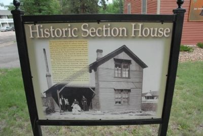 Historic Section House Marker image. Click for full size.