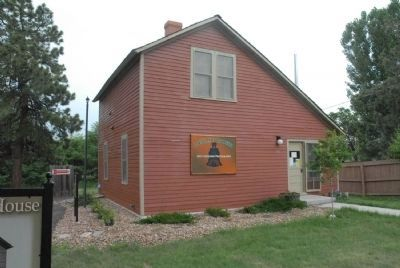 Historic Section House of the D&NO Railroad in Elizabeth, Colorado image. Click for full size.