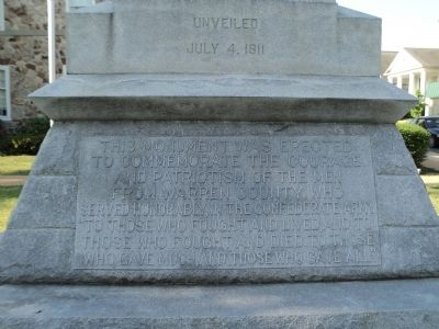 Warren County Confederate Marker Photo, Click for full size