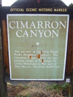 Cimarron Canyon Marker image. Click for full size.