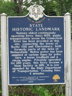 Nation's Oldest Ferry Marker image. Click for full size.