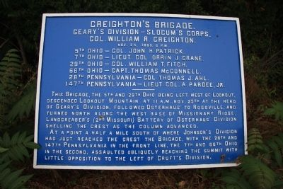 Creighton's Brigade Marker image. Click for full size.