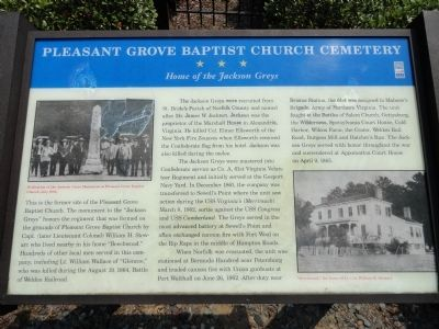 Pleasant Grove Baptist Church Cemetery Marker image. Click for full size.