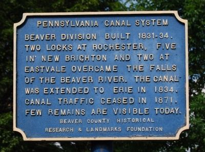 Pennsylvania Canal System Marker image. Click for full size.