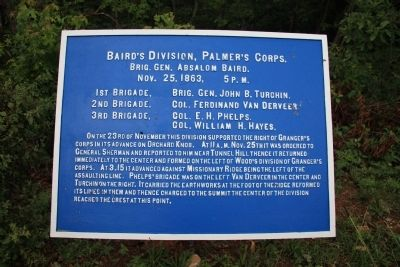Baird's Division, Palmer's Corps Marker image. Click for full size.