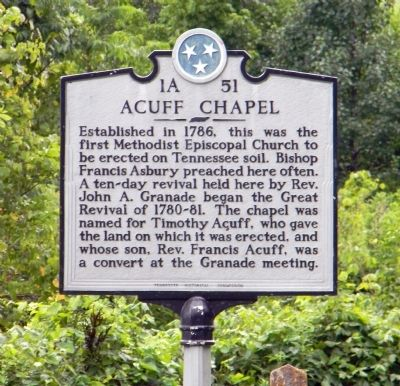 Acuff Chapel Marker image. Click for full size.
