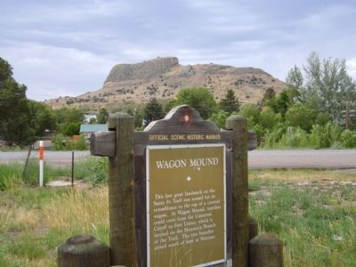 Wagon Mound Marker image. Click for full size.