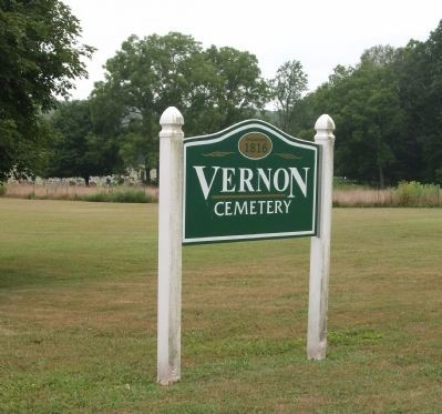 Sign - - Vernon Cemetery - Established 1816 image. Click for full size.