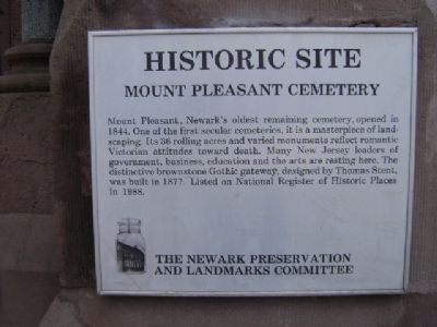 Mount Pleasant Cemetery Marker Photo, Click for full size