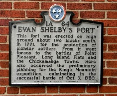 Evan Shelby's Fort Marker image. Click for full size.