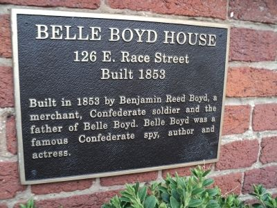 Belle Boyd House Marker image. Click for full size.
