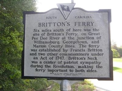 Britton's Ferry Marker image, Click for more information