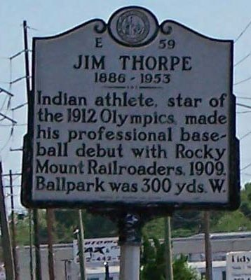 Jim Thorpe Marker image. Click for full size.