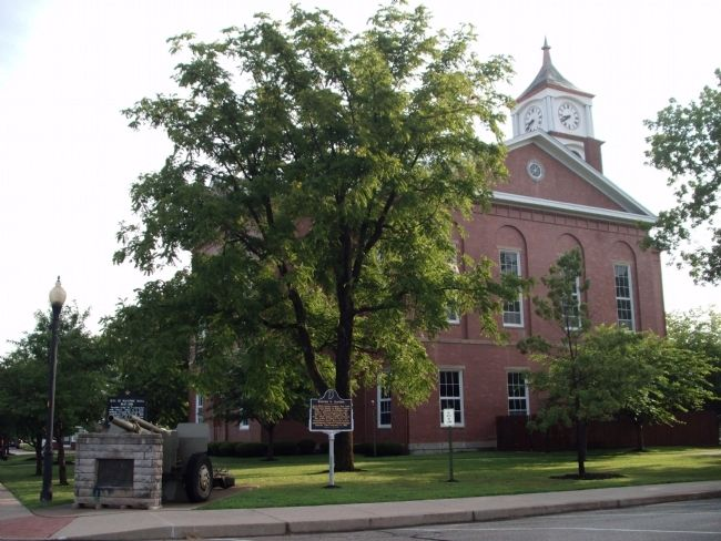 South/West Corner - - Ripley County Courthouse - - Versailles, Indiana image. Click for full size.