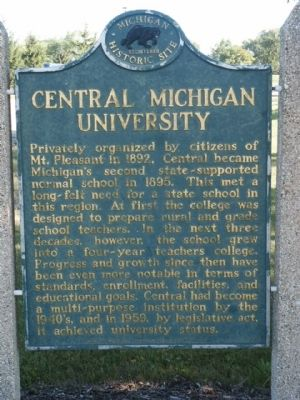 Central Michigan University Marker image. Click for full size.
