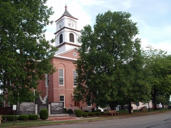 South/East Corner - - Ripley County Courthouse - - Versailles, Indiana image. Click for full size.