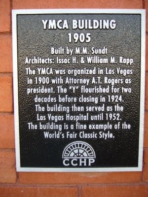 YMCA Building Marker image. Click for full size.