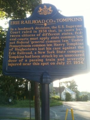 Erie Railroad Co. v. Tompkins Marker image. Click for full size.