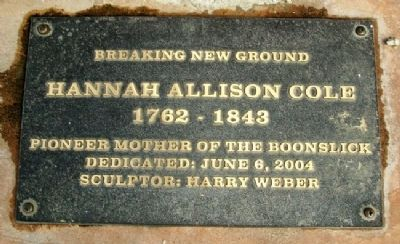 Hannah Allison Cole Statue Marker image. Click for full size.