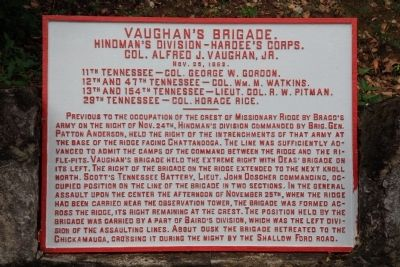 Vaughan's Brigade Marker image. Click for full size.