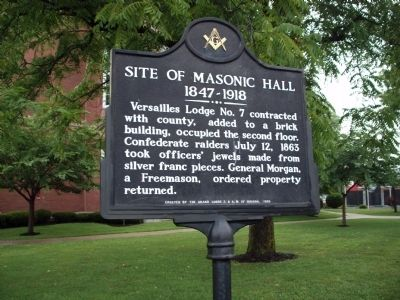 Site of Masonic Hall Marker image. Click for full size.