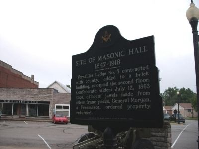 Obverse Side - - Site of Masonic Hall Marker image. Click for full size.