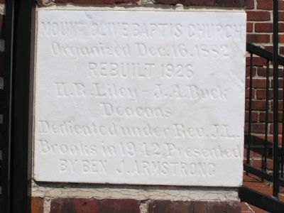 Dedication stone facing N, Mullins Street image. Click for full size.