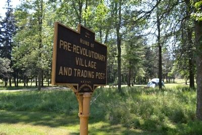 Ruins of Pre-Revolutionary Village Marker Photo, Click for full size