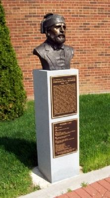 Frederick T. Kemper Bust and Marker image. Click for full size.