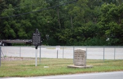 Wide View - - Morgan's Troops Camped Here Marker image. Click for full size.