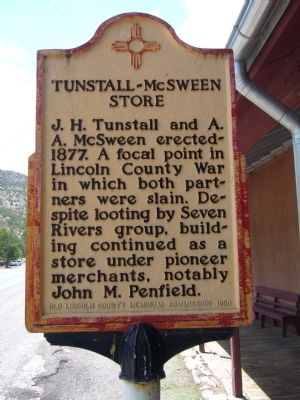 Tunstall-McSween Store Marker image. Click for full size.