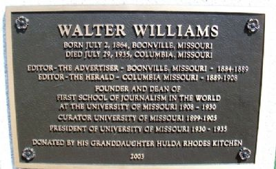 Walter Williams Marker image. Click for full size.