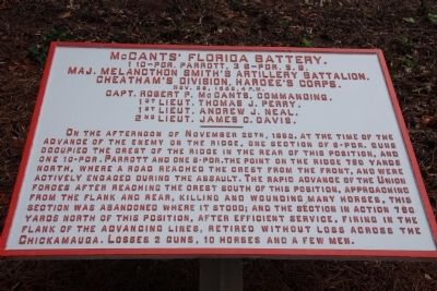 McCants' Florida Battery. Marker image. Click for full size.