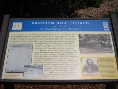 Freedom Hill Church Marker image. Click for full size.